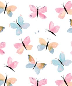 Șervețel - Pastel Butterflies - 33×33 cm