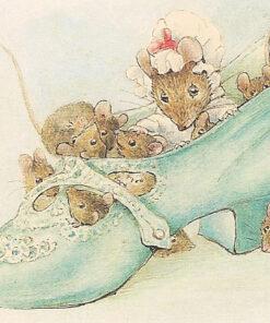 Hârtie de orez - Mouse in shoe - A5