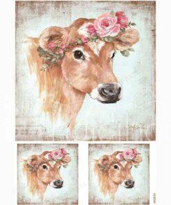 Hârtie de orez - Rosie Cow - A5