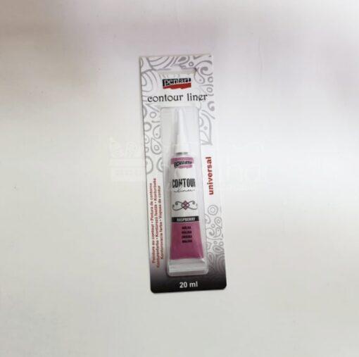 Vopsea contur - Zmeură - 20 ml - Pentart