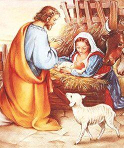 Șervețel - Jesus is born - 33x33