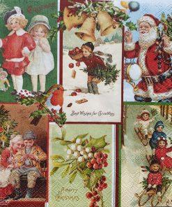 Șervețel - Best Wishes For Christmas - 33x33 cm
