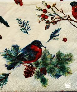 Șervețel - Christmas Beautiful Bird - 33x33 cm