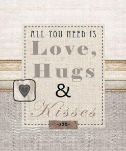 Șervețel - Love, Hugs & Kisses - 33x33 cm