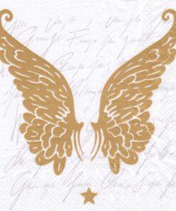 Șervețel - Wings Gold - 33x33 cm