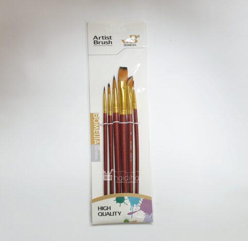 Set 6 pensule sintetice mixte - diferite dimensiuni