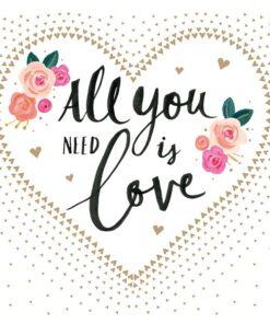 Șervețel - All You Need Is Love - 25x25 cm