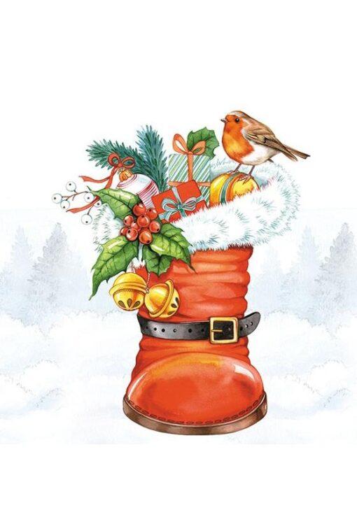 Șervețel - Christmas Boot - 25x25 cm