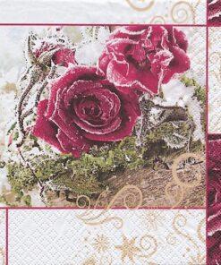 Șervețel - Frozen Roses - 33x33 cm