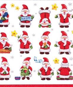 Șervețel - Funny Santas - 33x33 cm