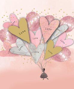 Șervețel - My Love - 33x33 cm