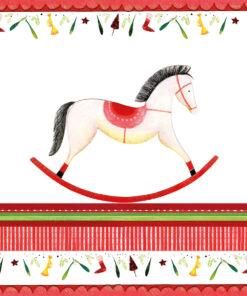Șervețel - Rocking Horse - 33x33 cm
