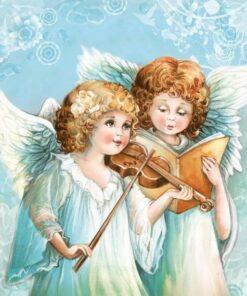 Șervețel - Two Angels Singing - 33x33 cm