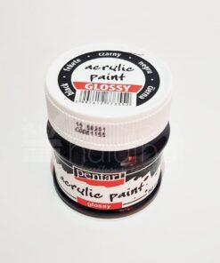 Acrilic lucios - 50 ml - Pentart - negru