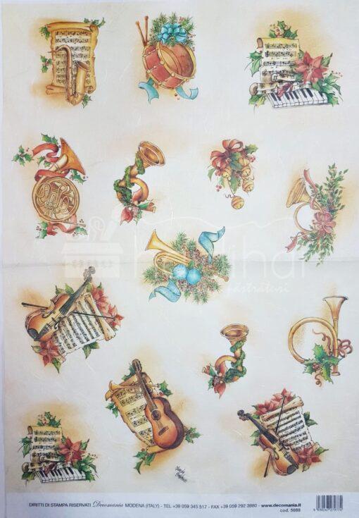 Hârtie de orez – Crăciun – 5088 – 35X50 cm