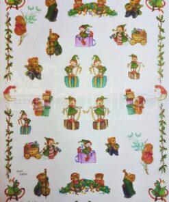 Hârtie de orez – spiriduși – 5208 – 35X50 cm