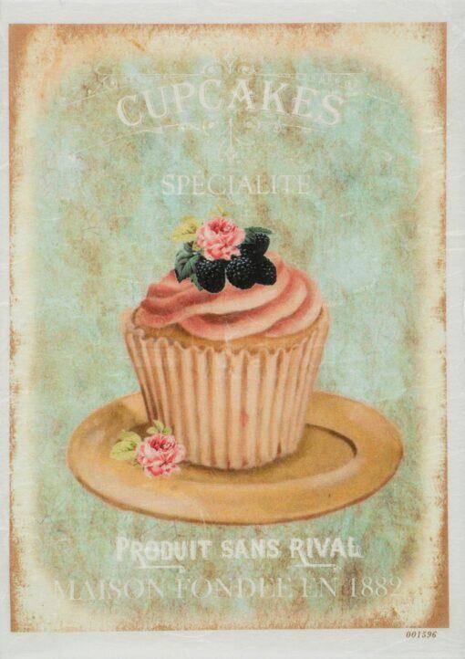 Hârtie de orez - cupcakes specialite - A5 1