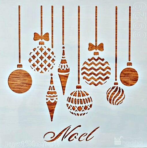 Șablon – globuri – Noel – 6929 – 20×20 cm