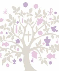 Șervețel - Communion Symbols Taupe - 33x33 cm