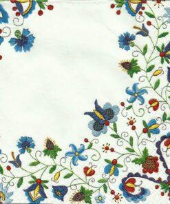 Șervețel - Kushubian Folk 7 - 33x33 cm