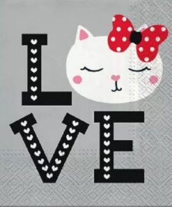 Șervețel - Lovely Cat - 33x33 cm