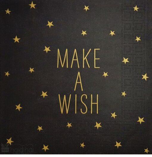 Șervețel - Make A Wish, stars - 33x33 cm