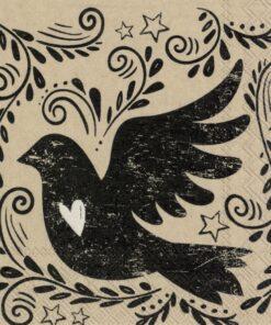 Șervețel - Vintage Bird - 25x25 cm