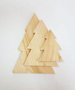 Formă de brad de Crăciun – set de 3 piese