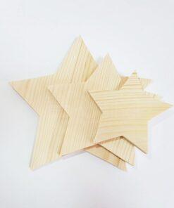 Formă din lemn – stea – set de 3 piese