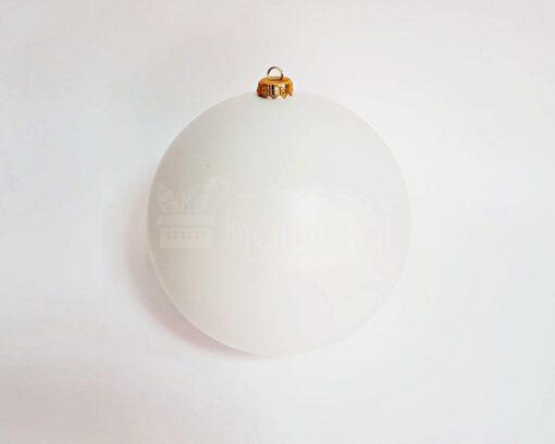 Glob rotund - alb - diametru 20 cm