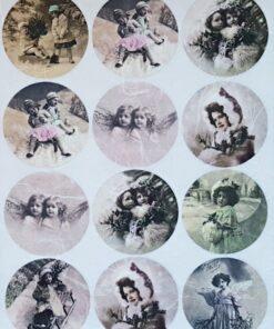 Hârtie de orez - Îngeri și copii - A4