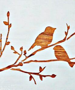 Șablon - Păsărele - Birds - 20x30 cm