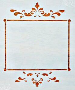 Șablon - model bordură - 20x20 cm
