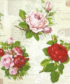 Șervețel Decoupage - English Roses - 33x33 cm