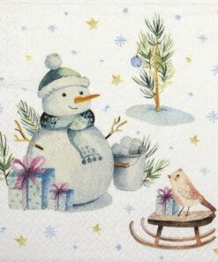 Șervețel - Lovely Snowman - 33x33 c