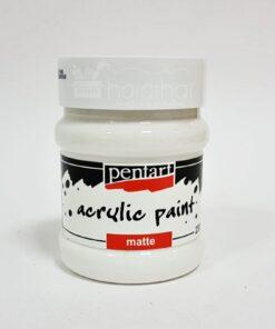Acrilic lucios - 230 ml - Pentart - alb