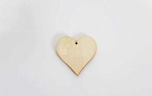 Formă inimă - 3,9 cm - lemn