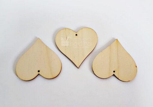 Formă inimă - 6,0 cm - lemn