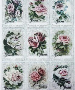 Hârtie de orez - Beautiful roses - A4