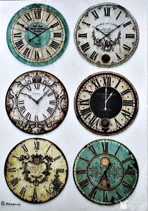 Hârtie de orez - Clock - A4