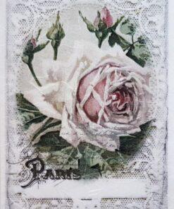 Hârtie de orez - Little Rose - A5