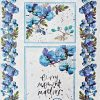 Hârtie de orez - Watercolor light blue - A4