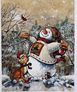 Hârtie de orez - Winter and Christmas - A5