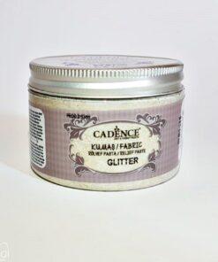 Pastă relief cu sclipici auriu - textile - 150 ml