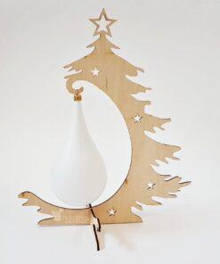 Brad de Crăciun lemn - 32,5 cm