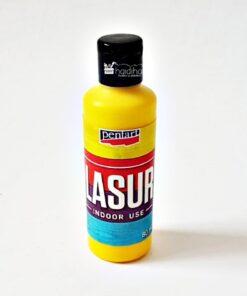 Lazura - baiț - galben, 80 ml pentru interior