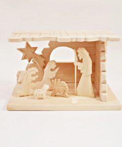 Scena nașterii - Crăciun - lemn natural