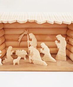 Scena nașterii Domnului - Crăciun - lemn natural