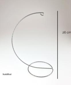 Suport metalic – argintiu – h26 cm