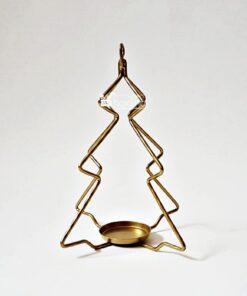 Suport metalic - Brad de Crăciun auriu - 19,5 cm